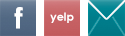 facebook, yelp, join mailing list